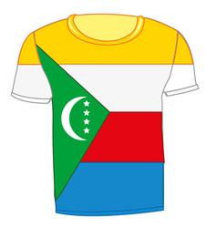 T-shirt flag komorskie island vector