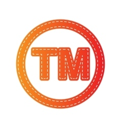 Trade mark sign Orange applique isolated vector