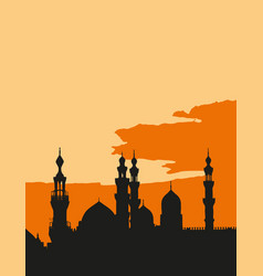 two mosques al-rifai and sultan hassan in vector image