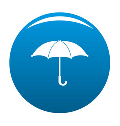 umbrella icon blue vector image