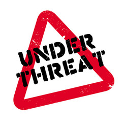 under threat rubber stamp vector image