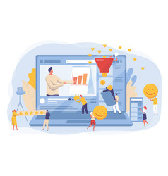 website development and social media marketing vector image