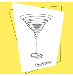 Cocktail vector image vector image