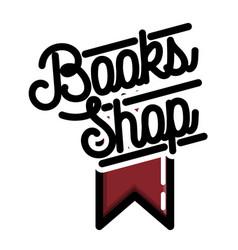 Color vintage books shop emblem vector