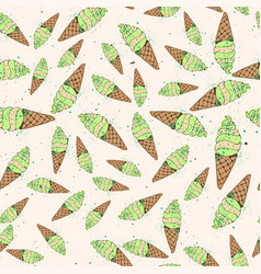 ice cream seamless pattern vector image vector image