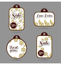 Labels Design Yellow Flowers vector image