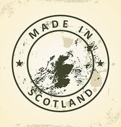 Stamp with map of Scotland vector image vector image