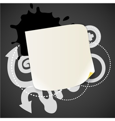 Abstract background with the blank white paper vector image
