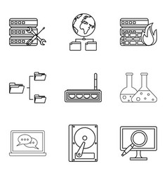book icons set outline style vector image