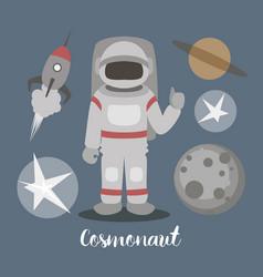 cosmonaut isolated vector image vector image
