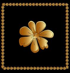 golden of flower floral element for vector image vector image