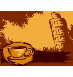 Italian coffee background vector image vector image