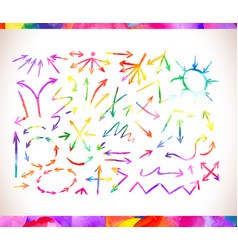 rainbow colors arrow collectio vector image vector image
