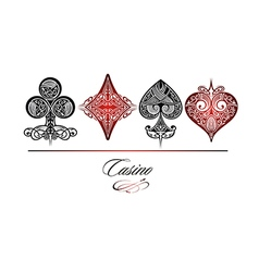 Set of playing card symbols vector image