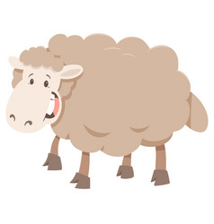 Cartoon sheep animal character vector