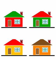 colorful houses set vector image