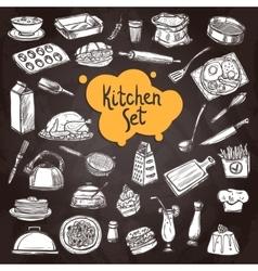 Food Chalkboard Set vector image