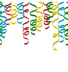 Party Streamers Background vector image