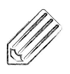 wooden pencil symbol vector image