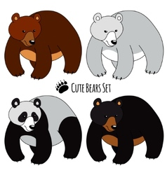 Bears Set vector image vector image