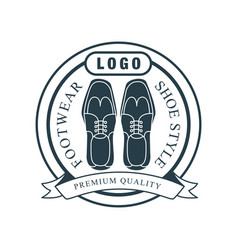 footwear shoe style premium quality logo vector image
