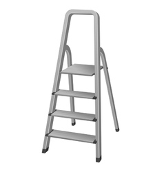 Isolated Step ladder vector image