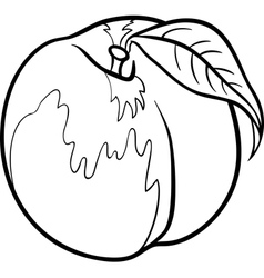 peach for coloring book vector image vector image