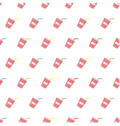 seamless pattern summer beach cold drinks vector image