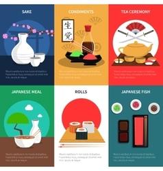 Sushi Mini Poster Set vector image