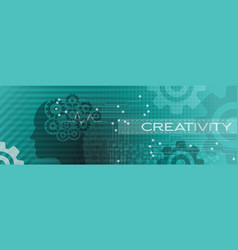 abstract creative banner background design vector image