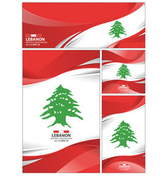 abstract lebanon flag background vector image