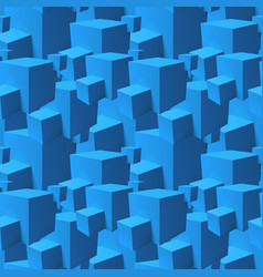 Abstract seamless pattern with overlapping blue vector