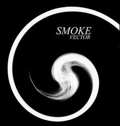 Abstract smoke by spiral isolated vector