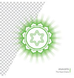anahata - chakra human body vector image