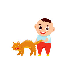 Baboy and a cat vector