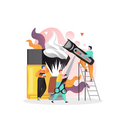 barbershop concept for web banner website vector image