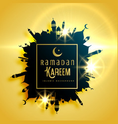 Beautiful ramadan kareem greeting card design vector