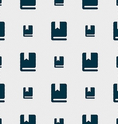 Bookmark icon sign Seamless pattern with geometric vector