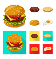 Burger and sandwich logo vector