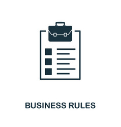 business rules icon symbol creative sign vector image