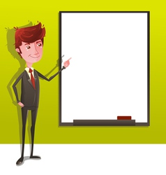Businessman Presentation with White Board vector image