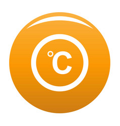 celsius icon orange vector image