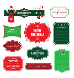 christmas and happy new year frames banners vector image