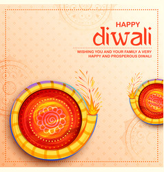 colorful firecracker on happy diwali holiday vector image