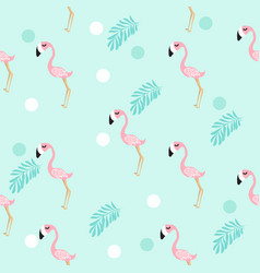 cute flamingo pattern vector image