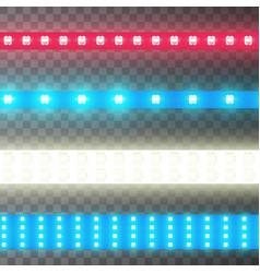 decoration illuminated tape led strip bright vector image