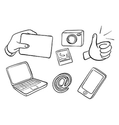 Different kinds of gadgets vector image