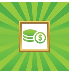 Dollar rouleau picture icon vector