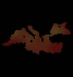 Dot orange mediterranean sea map vector