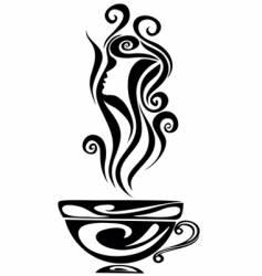 Elegant cup vector